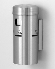 Glaro 4400SA Wall Mounted Smoking Post - Satin Aluminum