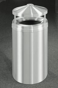 Glaro New Yorker Canopy Top Ash and Trash Receptacle, 20 x 42, 33 Gallon, H2002SA