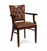 Gar Series 423 Arm Chair with Padded Seat and Button Tufted Back