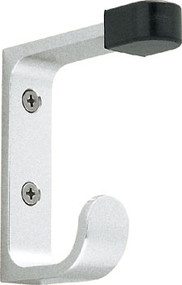 Peter Pepper 2016 Aluminum Double Prong Coat Hook with Door Stop Tip
