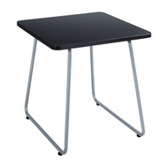 Safco 5090SL Anywhere End Table - Square Black Top Silver Base