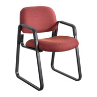 Safco Cava Urth Sled Base Side Chair Burgundy 7047BG