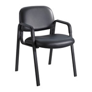 Safco Cava Urth Straight Leg Side Chair Black Vinyl 7046BV