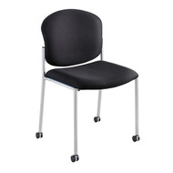 Safco Diaz Upholstered Side Chair - Black 4194BL