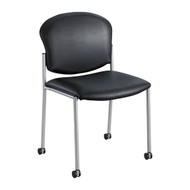 Safco Diaz Vinyl Side Chair - Black 4194BV