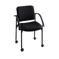 Safco Moto Stack Chair Black 4184BL - Carton of 2
