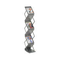 Safco 4132GR  Ready-Set-Go! Double Sided Folding Literature Display Rack