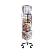 Safco 4139CH Rotary Floor Magazine Display Rack