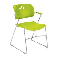 Safco Veer Flex Frame Stacking Chair 4286GS - Carton of 4