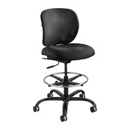 Safco Vue Heavy Duty Big and Tall Extended Height Black Chair / Stool 3394BL