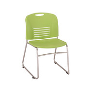 Safco Vy Sled Base Stack Chair 4292GN - Carton of 2
