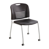 Safco Vy Straight Leg Stack Chair w/ Caster 4291BL - Carton of 2