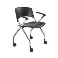 Safco 3480BL xtc. Nesting Chair (Qty. 2) - Black