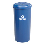 Safco 9632BU Tall Round Recycling Receptacle - 20 Gallons