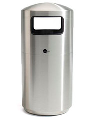 Cleanline Stainless Steel Side Load Trash Can 39SL - 39 Gallons