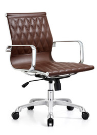 Woodstock Annie  Mid Back Leather Chair - Brown