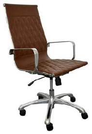 Woodstock Annie High Back Leather Chair - Brown