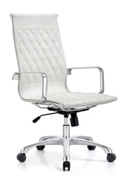 Woodstock Annie High Back Leather Chair - White
