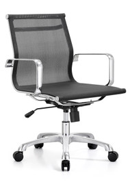 Woodstock Baez Mid Back Mesh Chair - Black
