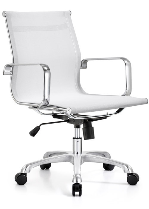 ... Mid Back Mesh Chair   White. Image 1