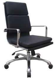 Woodstock Hendrix High Back Leather Chair - Black