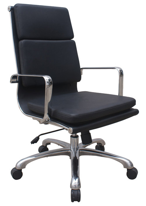 ... Woodstock Hendrix High Back Leather Chair   Black. Image 1