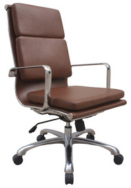 Woodstock Hendrix High Back Leather Chair - Brown