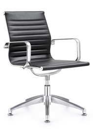 Woodstock Joplin Leather Side Chair - Black