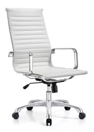 Woodstock Joplin Leather High Back Chair - White