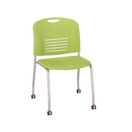 Safco Vy Straight Leg Stack Chair w/ Caster 4291GN - Carton of 2