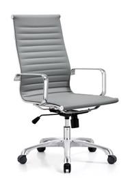 Woodstock Joplin Leather High Back Chair - Gray