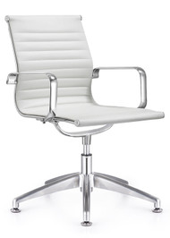 Woodstock Joplin Leather Side Chair - White