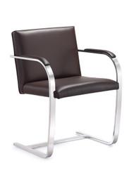 Woodstock  Arlo Italian Leather Side Chair - Brown