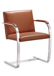 Woodstock  Arlo Italian Leather Side Chair - Tan