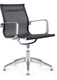 Woodstock Baez Mesh Side Chair - Black