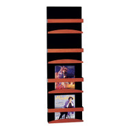 Peter Pepper 4034 Wall Mount Vertical Magazine Rack - 4 Pockets