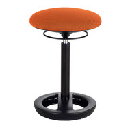 Safco 3000OR Twixt Active Seating Stool - Desk Height - Orange Mesh