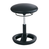 Safco 3000BV Twixt Active Seating Stool - Desk Height - Black Vinyl