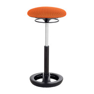 Safco 3001OR Twixt Active Seating Stool - Extended Height - Orange Mesh