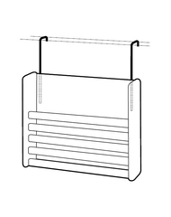 Peter Pepper Panel System Hangers Models 8901 and 8902 - Hanging Example.