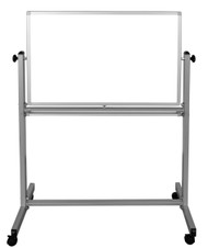 "Mobile Double-Sided Magnetic White Board 700-201 - 36"" W x 24"" H"