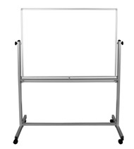 "Mobile Double-Sided Magnetic White Board 700-202 - 48"" W x 36"" H"
