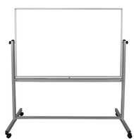 "Mobile Double-Sided Magnetic White Board 700-203 - 60"" W x 40"" H"