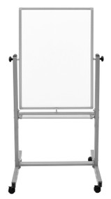 "Mobile Double-Sided Magnetic White Board 700-207 - 24"" W x 36"" H"
