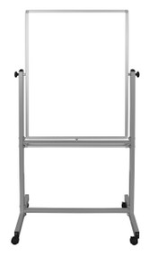 "Mobile Double-Sided Magnetic White Board 700-208 - 30"" W x 40"" H"
