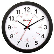 "BRG Precision Products HP12P DuraTime HP Clock, 12"" Diameter, Black Plastic Bezel"