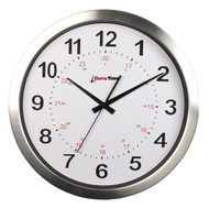 "BRG Precision Products HP15A DuraTime HP Clock, 15"" Diameter, Brushed Aluminum Bezel"