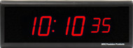 BRG Precision Products DuraTime HP625R high precision plug-in digital wall clock with a 6-digit 2.5-inch high red LED display.