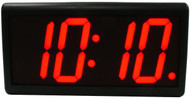 BRG Precision Products DuraTime HP440R high precision plug-in digital wall clock with a 4-digit 4-inch high red LED display.