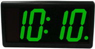 BRG Precision Products DuraTime HP440G high precision plug-in digital wall clock with a 4-digit 4-inch high green LED display.